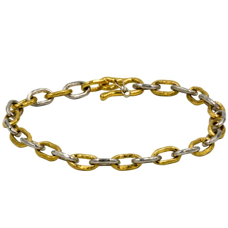 Jean Mahie Two-Tone Small Cadene Chain Bracelet For Sale