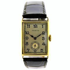 Zenith Gold Wrist Watch 1920's