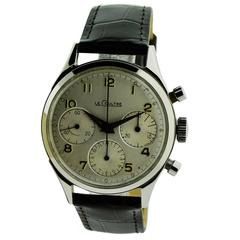 Le Coultre Chronograph Stainless Steel Wrist Watch