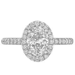 1.10 Carat Oval Brilliant-Cut Diamond Ring
