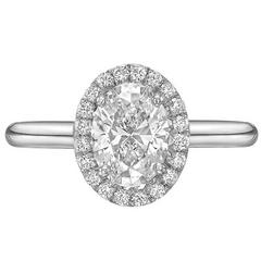 1.01 Carat Oval Brilliant-Cut Diamond Ring