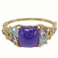 Diamond Emerald Ruby Sapphire Tanzanite Gold Bracelet