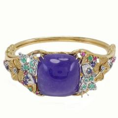 Diamond Emerald Ruby Sapphire Tanzanite Gold Bracelet