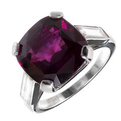 Cartier Pink Purple Pyrope Almandine Garnet Diamond Platinum Cocktail Ring