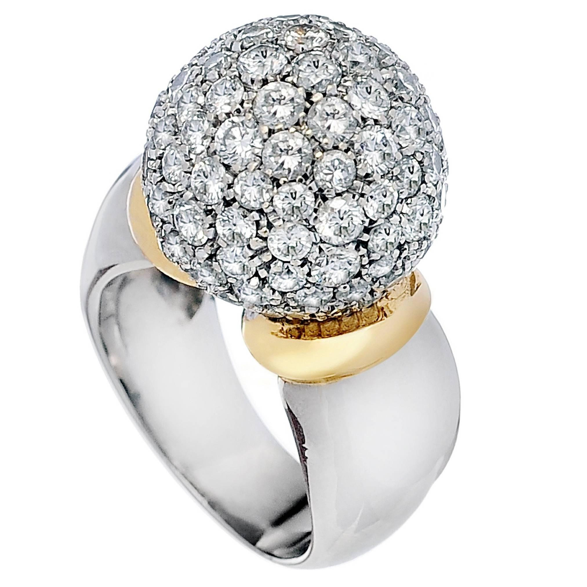 Diamond Ball Ring For Sale at 1stdibs