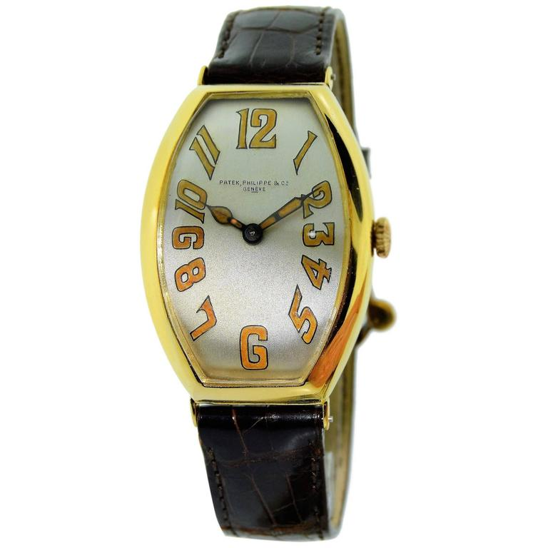 Patek Philippe Yellow Gold Oversized Gondolo Manual Wind Watch 1923
