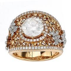 Fancy Diamond Butterfly Ring