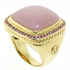 David Yurman Pink Sapphire and Moonstone ring