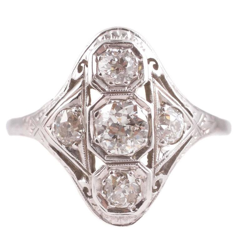 1.20 Carat Diamond Gold Ring