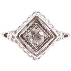 0.33 Carat Diamond Engagement Ring in 14 Karat Gold