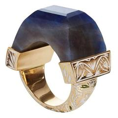 Jade Jagger Never Ending Sapphire Enamel Ring