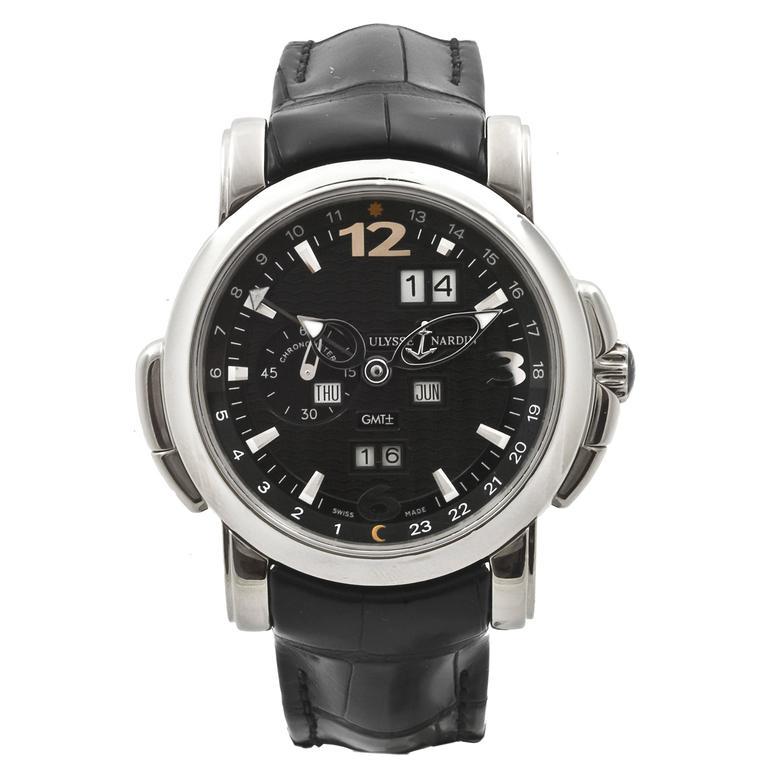 Ulysse Nardin White Gold GMT Perpetual Automatic Wristwatch