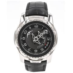 Ulysse Nardin White Gold Tourbillon Black Dial Freak Manual Wind Wristwatch