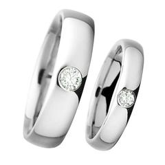 Renesim Brilliant Cut Diamond Platinum Wedding Rings