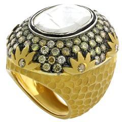 Rose Cut Diamond Gold Ring