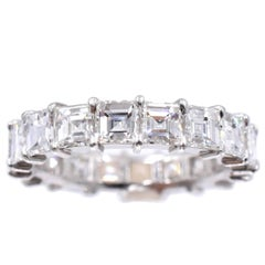 Nally Square Shaped Diamond Platinum Eternity Band Ring