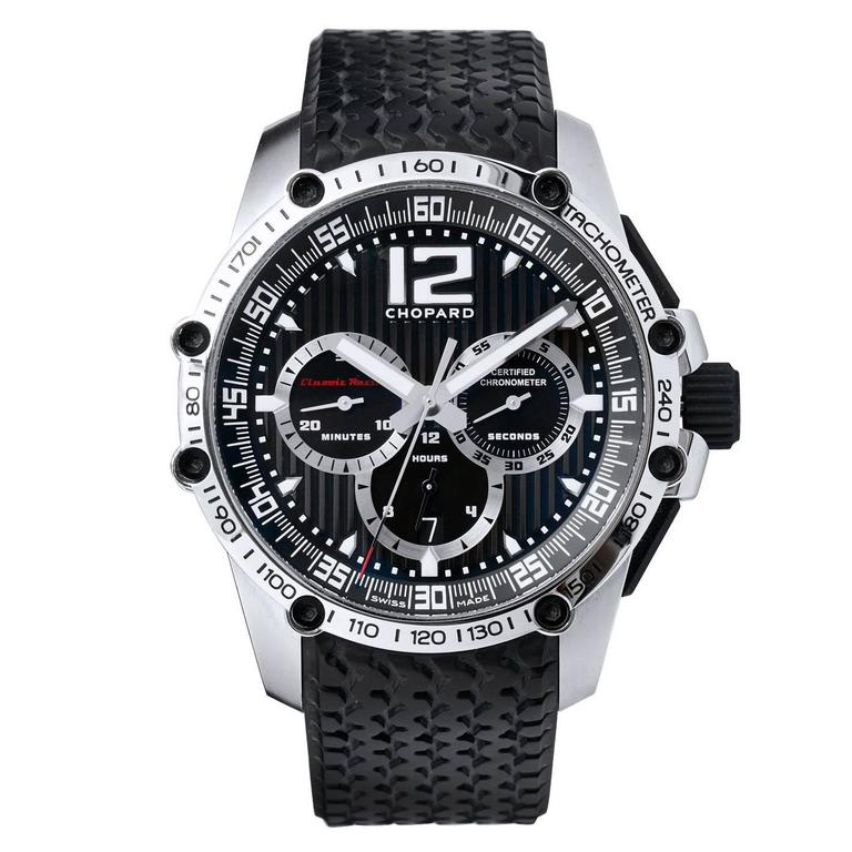 Chopard  Stainless Steel Chronograph Wristwatch