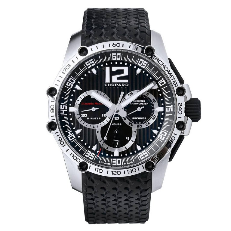 Men's Chopard Stainless Steel Chronograph Wristwatch For Sale