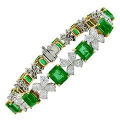 Cartier Emerald Diamond Bracelet