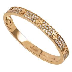 Cartier Rose Gold Diamond LOVE Bangle