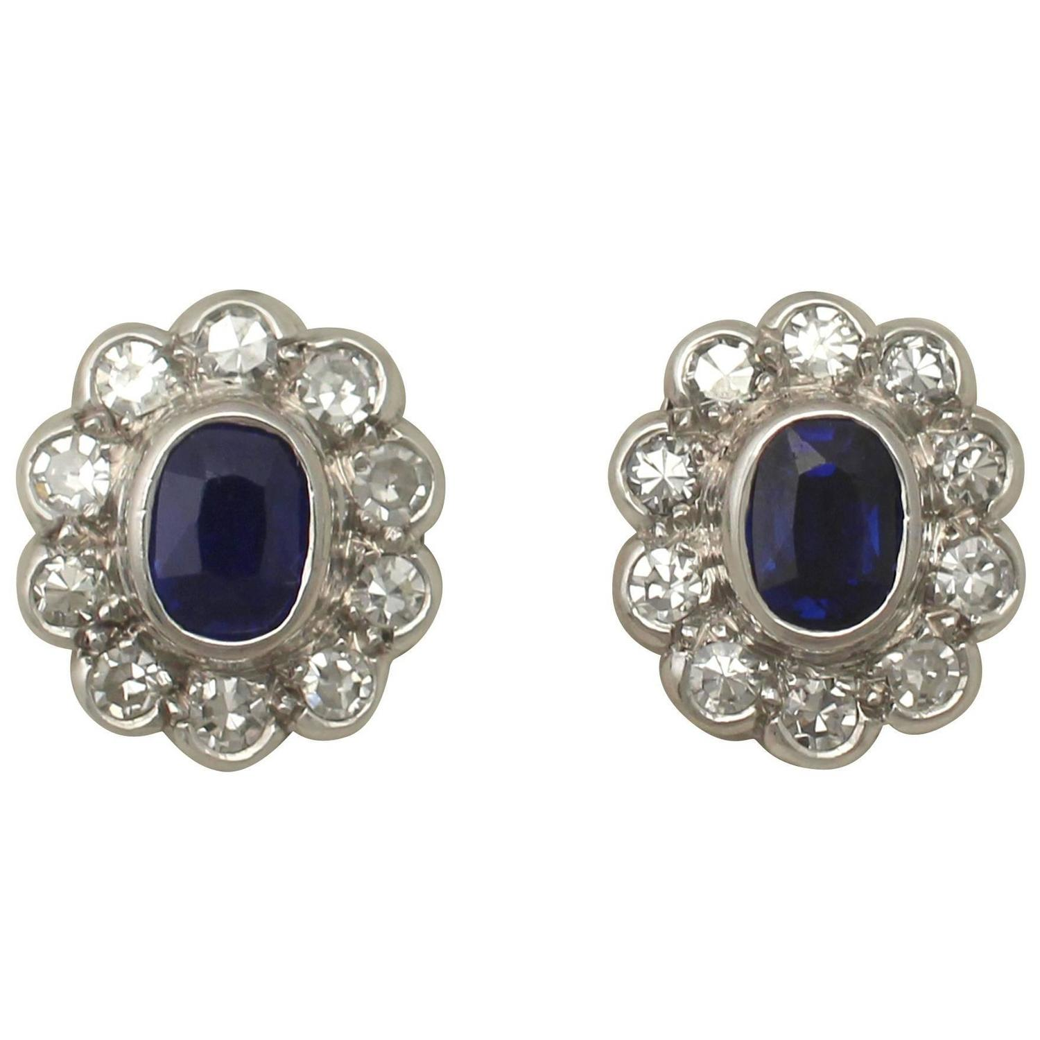 stud at earrings id antique gold sapphire j org z diamond jewelry