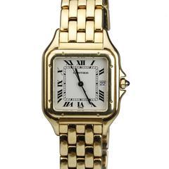 Cartier Yellow Gold Panthere Quartz Wristwatch