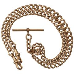 1923 9k Yellow Gold Double Albert Watch Chain