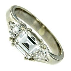 Three Stone Diamond Platinum Engagement Ring