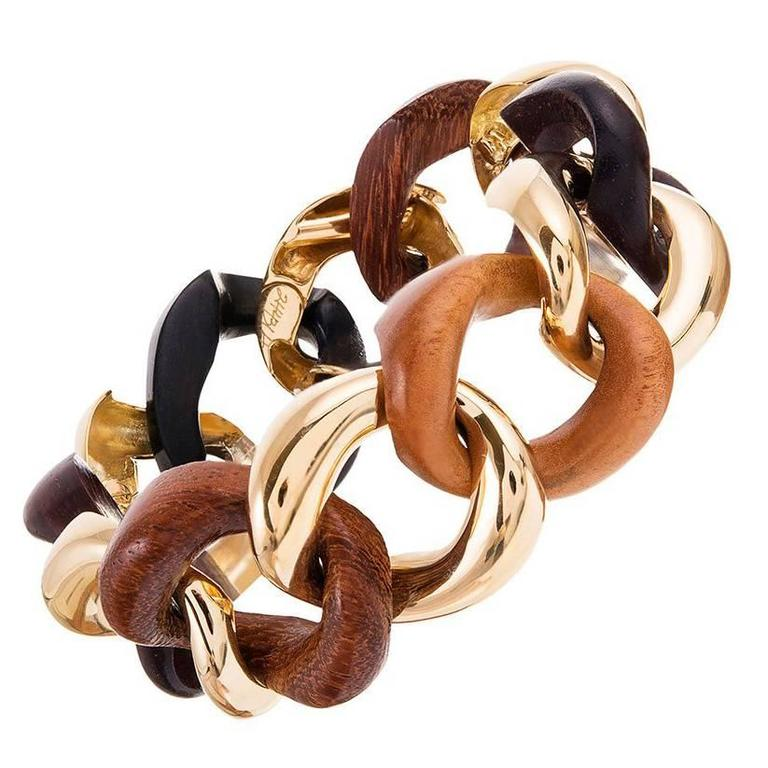 Seaman Schepps Medium Link Bracelet with Mixed Woods 1