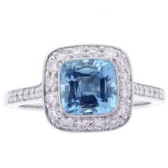 Tiffany & Co. Legacy Aquamarine Diamond platinum Ring