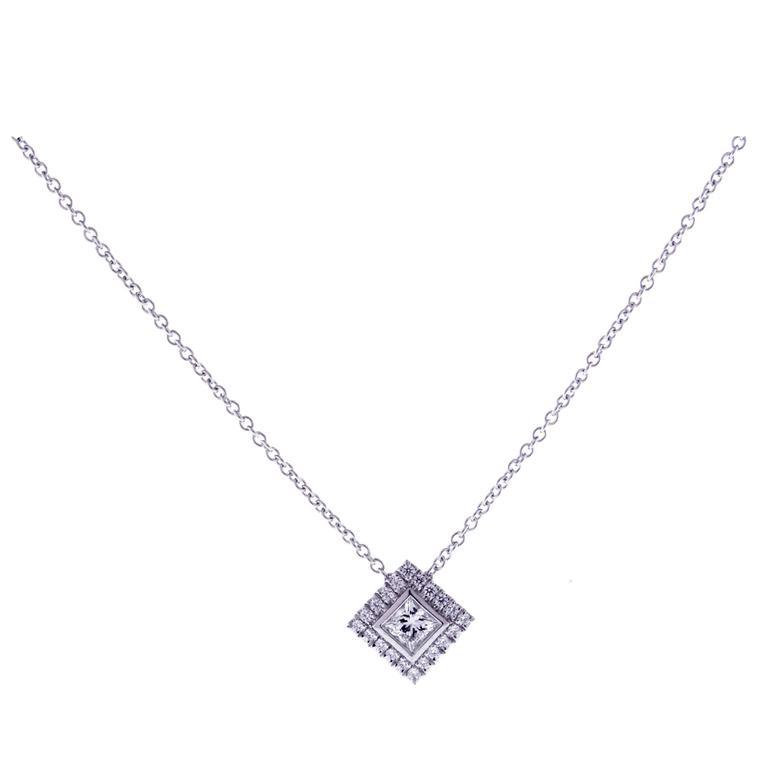 Tiffany & Co. Grace princess cut Diamond platinum Pendant