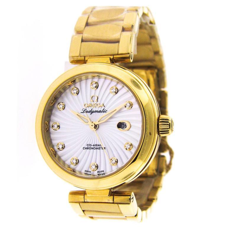 Omega Ladies Yellow Gold Ladymatic Automatic Wristwatch