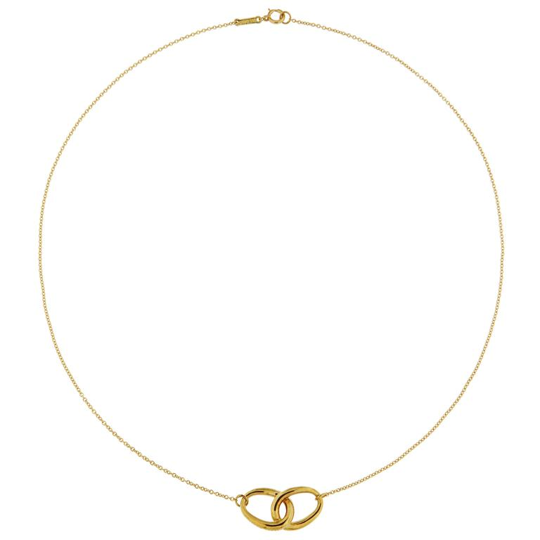 Tiffany Knot Yellow Gold Necklace