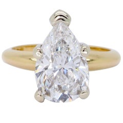 Certified Pear Shaped Diamond Engagement Ring