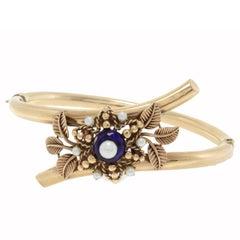Little Pearl Gold Flower Bracelet