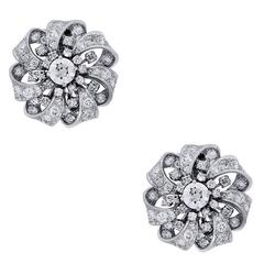 6.7 Carats GIA Old European Diamond Platinum Earrings