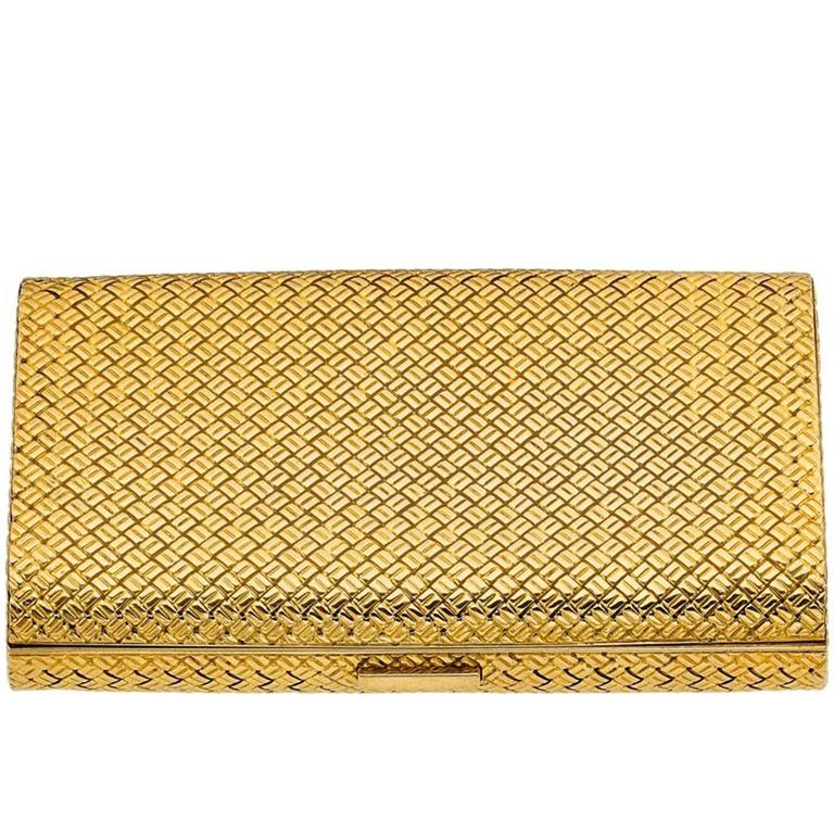 Van Cleef & Arpels Basketweave Gold Case