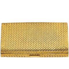 Van Cleef & Arpels Basketweave Gold  Case