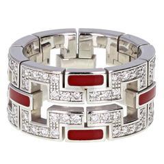 Cartier Baiser du Dragon Diamond Gold Lacquer Band Ring