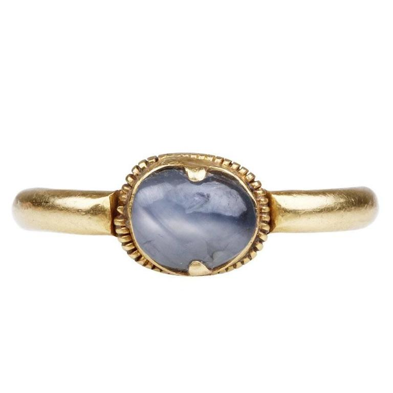 Ancient Star Sapphire Gold Ring 1