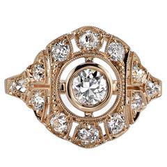 Spectacular Rose Cut Diamond Ring at 1stdibs