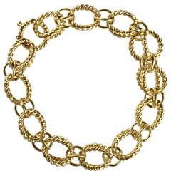 Tiffany & Co. Schlumberger Gold Circle Rope Bracelet