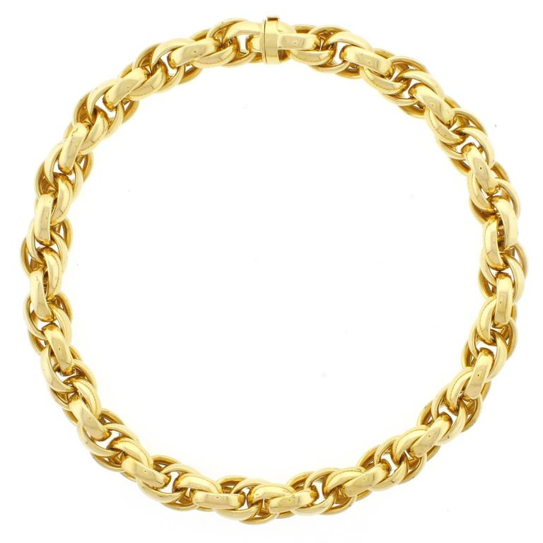 zoom designers link product oval diaz necklace gold chains in dia jane plated