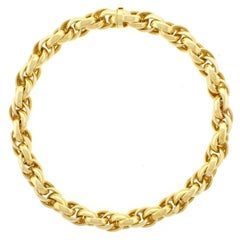 Abel & Zimmerman Interlocking Gold Oval Link Necklace