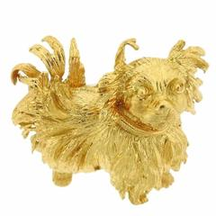 Buccellati Gold Pekingese Dog Brooch Pin