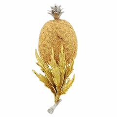Buccellati Multicolor Gold Pineapple Brooch Pin
