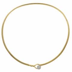 Tiffany & Co. Diamond Gold Collar Necklace