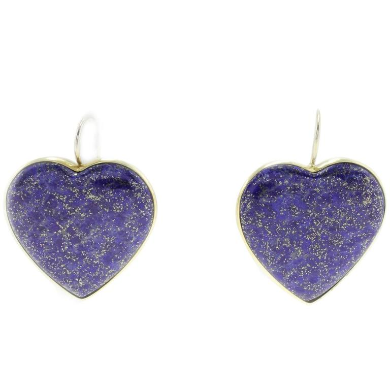 Luise Lapis 18kt yellow Gold Earrings