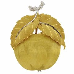 Buccellati Gold Apple Brooch Pin