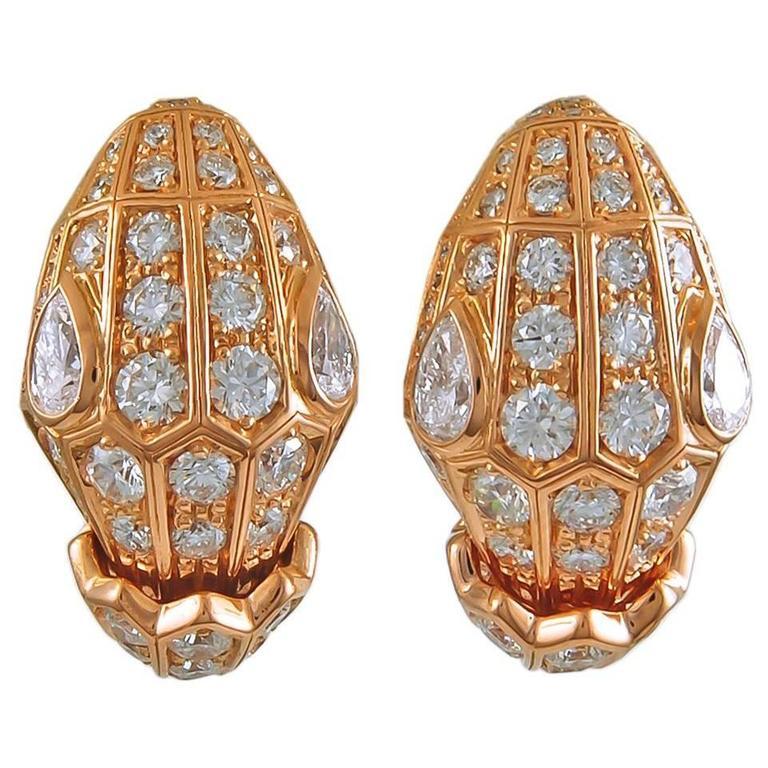 Bulgari Serpenti Diamond Earclips